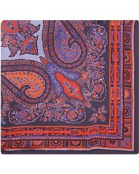 Etro | Purple Paisley-print Pocket Square - For Men for Men | Lyst