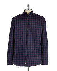 Strellson | Purple Slim Fit Printed Sportshirt for Men | Lyst