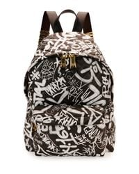 Moschino - Multicolor Graffiti Print Quilted Leather Backpack - Lyst