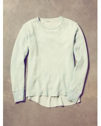 Free People - Vintage Overdyed Blue Thermal - Lyst