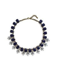 BaubleBar | Blue Crystal Collar Necklace - Navy/ Antique Gold | Lyst