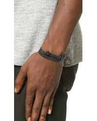 Miansai | Black Modern Anchor Rope Wrap Bracelet for Men | Lyst
