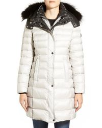 Andrew Marc | White Genuine Fox Fur Trim Down Coat | Lyst