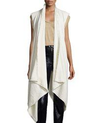 Isabel Marant - White Open-Front Draped Vest - Lyst