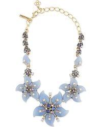 Oscar de la Renta | Purple Resin Floral Necklace - For Women | Lyst