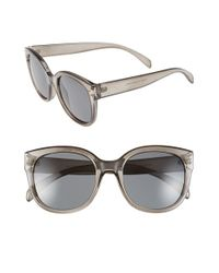 A.J. Morgan | Gray 'pristine' 55mm Oversized Sunglasses | Lyst