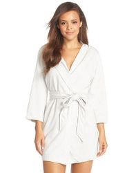 Make + Model - Gray 'daydream' Short Hooded Robe - Lyst