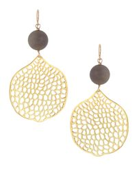 Devon Leigh - Metallic Druzy Honeycomb Earrings - Lyst