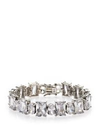 CZ by Kenneth Jay Lane | Metallic Accented Tennis Bracelet | Lyst