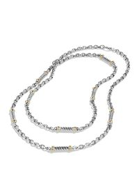 David Yurman | Metallic Metro Link Necklace With Gold | Lyst