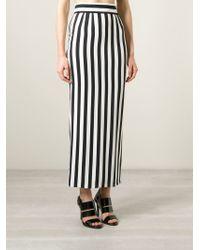 Dolce & Gabbana - Black Long Striped Skirt - Lyst