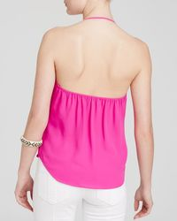 Olivaceous | Pink Crossover Halter Top | Lyst