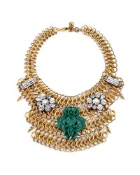 Lulu Frost | Blue Rita Mesh Necklace - Teal | Lyst