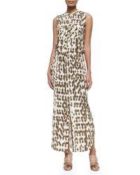 Vince   Brown Ikat-print Cargo Maxi Dress   Lyst