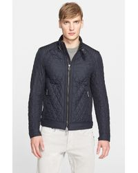 Belstaff - Blue 'bramley' Water Resistant Quilted Moto Jacket for Men - Lyst