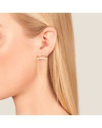 Dutch Basics | Metallic Boog Drop Earrings Straight Rose Gold | Lyst