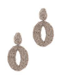 Oscar de la Renta | Metallic Long Ombre Bead Tassel Clip-On Earrings | Lyst