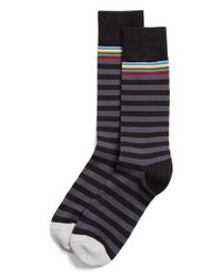 Paul Smith | Black Multitop Stripe Socks for Men | Lyst