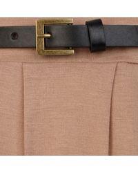 River Island - Natural Beige Belted Side Split Maxi Skirt - Lyst