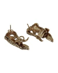 Roberto Cavalli - Metallic Earrings - Lyst