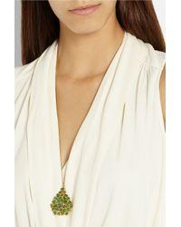 Pippa Small | Metallic Labradorite & Yellow-Gold Necklace | Lyst