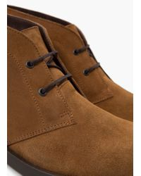 Mango | Brown Lace-up Leather Boots for Men | Lyst