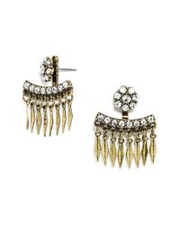 BaubleBar | Metallic 'Warrior Fringe' Ear Jackets - Antique Gold/ Clear | Lyst