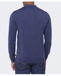 BOSS Blue Banet-e Wool Polo Shirt for men