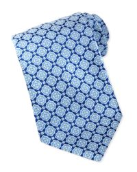 Stefano Ricci - Blue Large-medallion Silk Tie for Men - Lyst