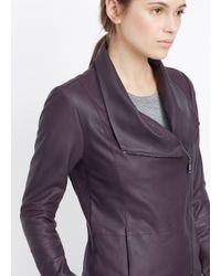 Vince - Brown Scuba Leather Jacket  - Lyst