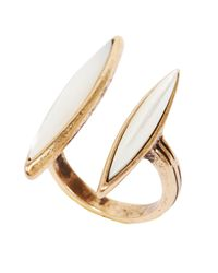 Lucky Brand | Metallic Goldtone Mother Of Pearl Stone Ring | Lyst