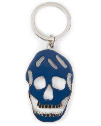Alexander McQueen - Blue Skull Keyring - Lyst