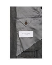 Richard James - Gray Worsted Two-Button Suit for Men - Lyst