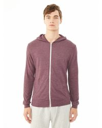 Alternative Apparel | Purple Basic Eco-jersey Zip Hoodie for Men | Lyst