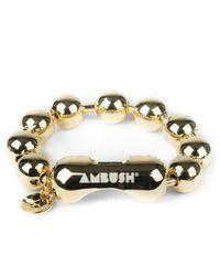 Ambush   Metallic Gold Amb Ball Chain Bracelet for Men   Lyst