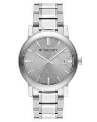 Burberry - Metallic Check Stamped Bracelet Watch - Lyst