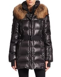 Sam. | Black Millenium Fur-trimmed Puffer | Lyst