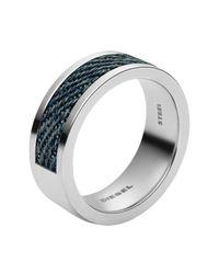 DIESEL | Metallic Ring Dx0918 for Men | Lyst