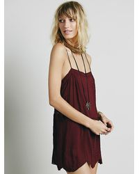 Free People | Purple Sunset Romper | Lyst