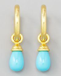 Elizabeth Locke | Metallic Turquoise Earring Pendants | Lyst