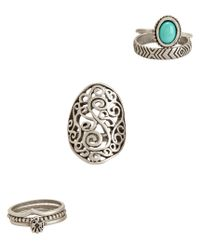Aéropostale | Blue Earthy Ring 6-pack | Lyst