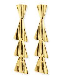 Robert Lee Morris - Metallic 18k Gold-plated Fan Drop Earrings With Post - Lyst