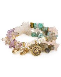 Sequin | Multicolor Color Karma Joy Sun Bracelets, Set Of 3 | Lyst