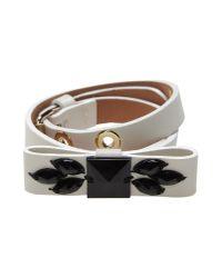 Schumacher - White Bracelet - Lyst
