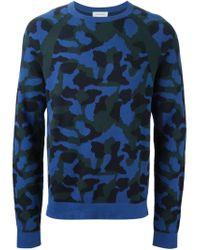 Paul & Joe | Blue Camouflage Pattern Sweater for Men | Lyst