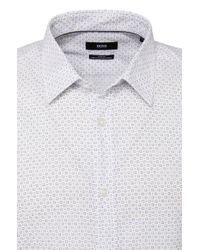 BOSS - White Slim-fit Shirt In Cotton: 'ronni' for Men - Lyst