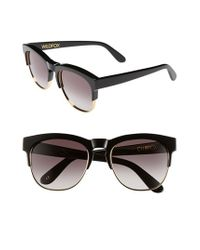 Wildfox - Black 'club Fox' 52mm Sunglasses - Lyst