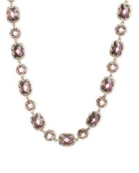 Judith Jack | Purple Elegant Evening Sterling Silver And Crystal Collar Necklace | Lyst