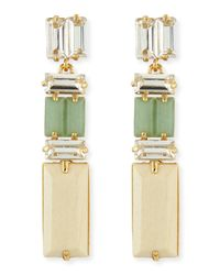 kate spade new york - Multicolor Linear Crystalwood Drop Earrings - Lyst