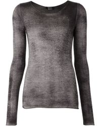 Avant Toi - Gray Fine Knit Dyed Sweater - Lyst